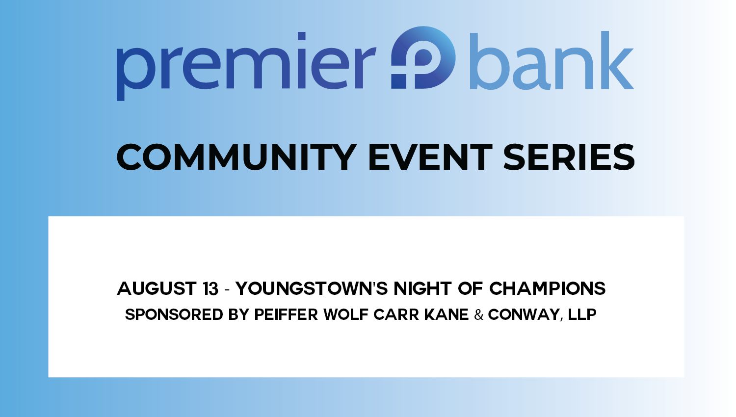 YOUNGSTOWN'S NIGHT OF CHAMPIONS SPONSORED BY PEIFFER, WOLF, CARR, KANE & CONWAY.