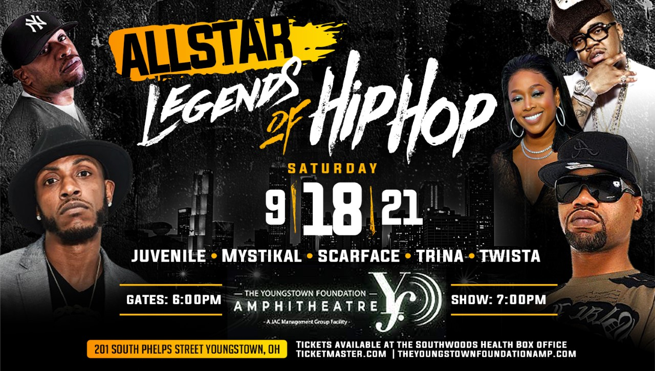 All Star Legends of Hip Hop feat. Juvenile, Mystikal, Scarface, Twista and Trina.